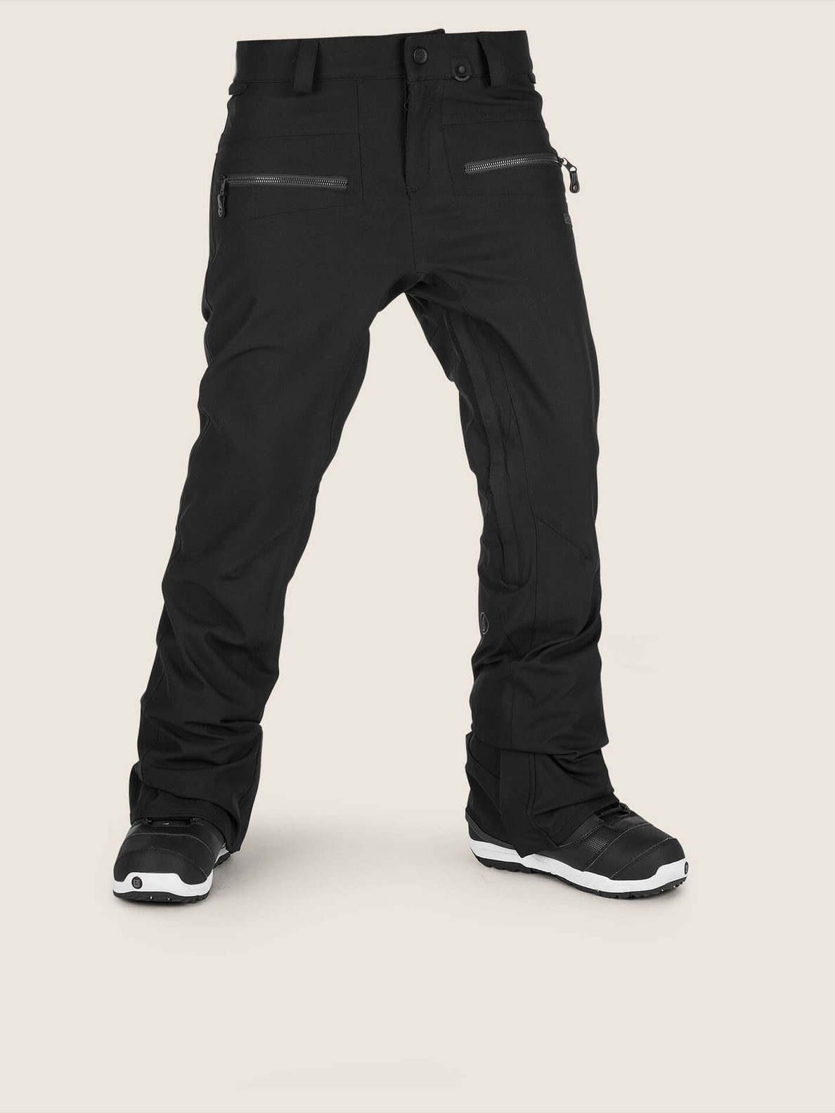 Iron Stretch Pant In Black, Front View