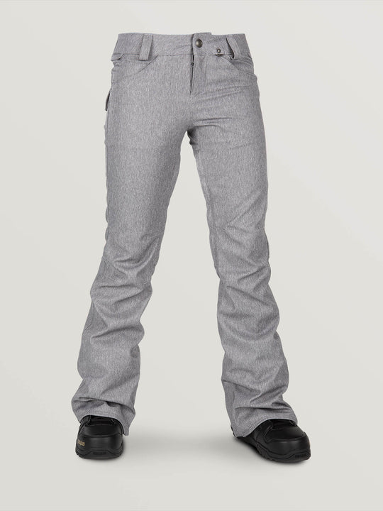 Species Stretch Pant In Heather Grey, Front View
