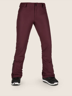 Battle Stretch Pant In Merlot, Front View