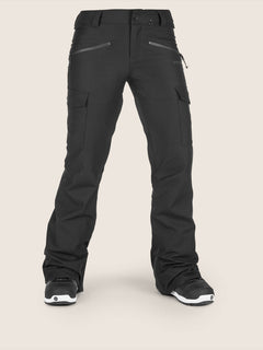 Mira Pant In Black, Front View