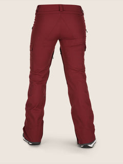 Mira Pant In Burnt Red, Back View