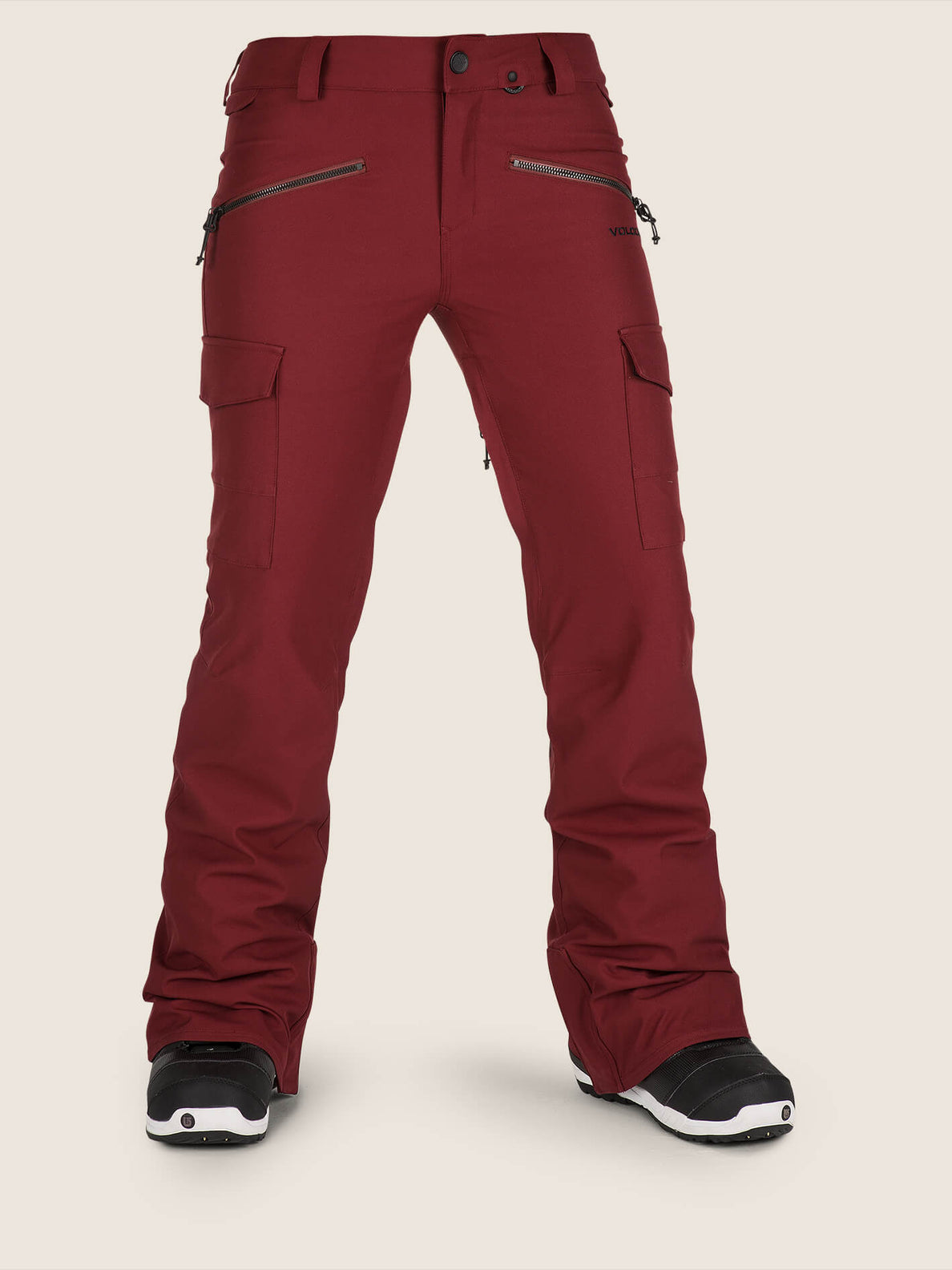 Mira Pant In Burnt Red, Front View