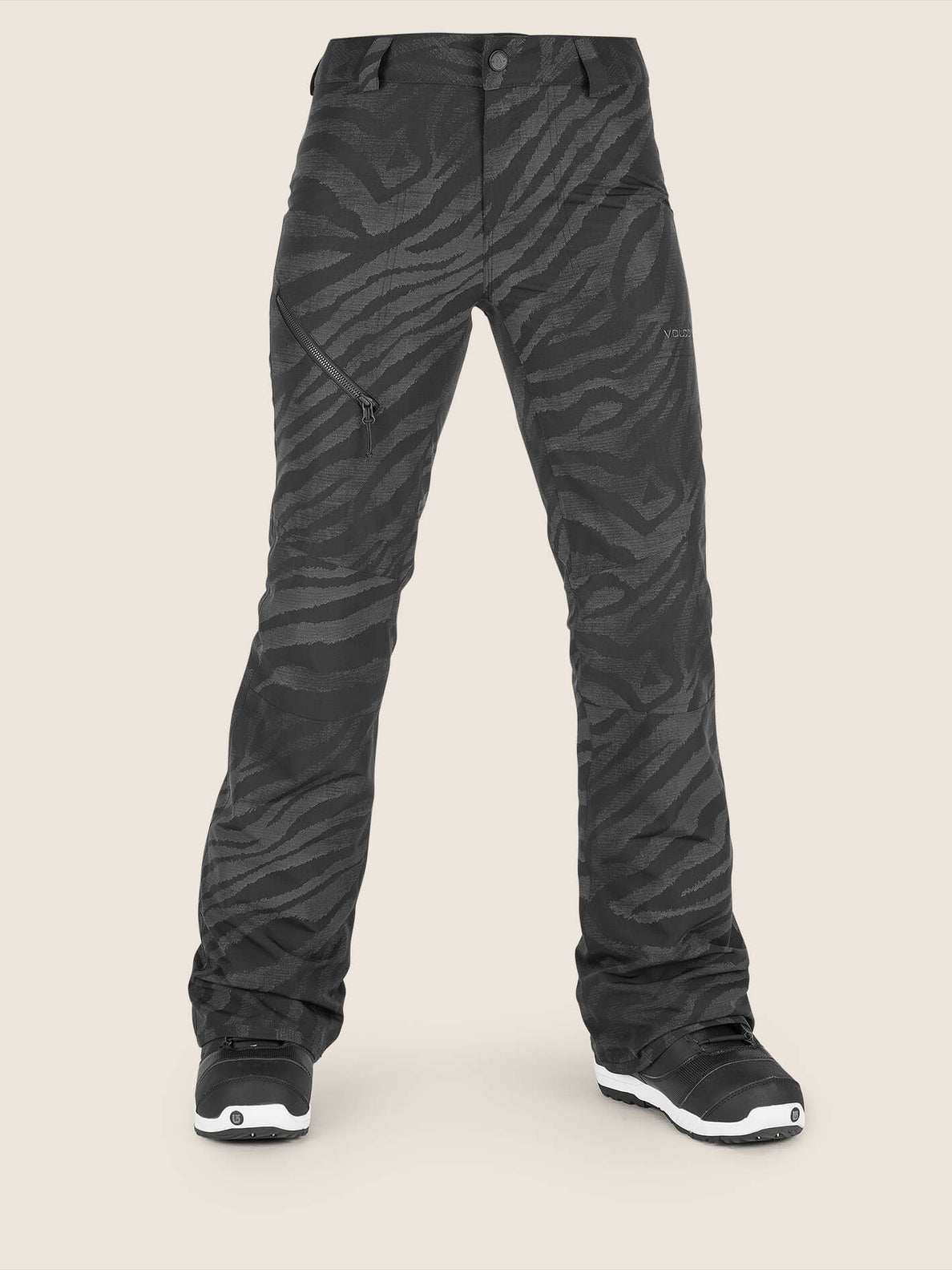 Hallen Pant In Black On Black, Front View