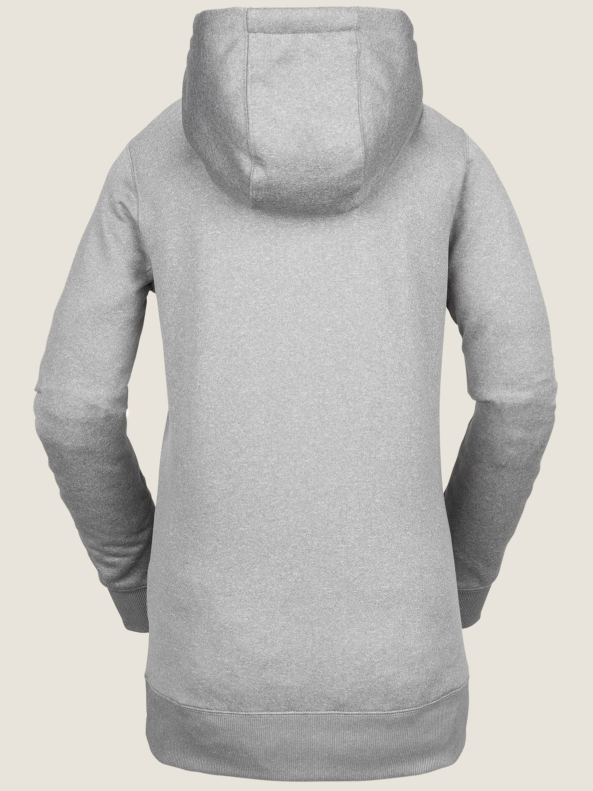 Yerba Pullover Fleece In Heather Grey, Back View