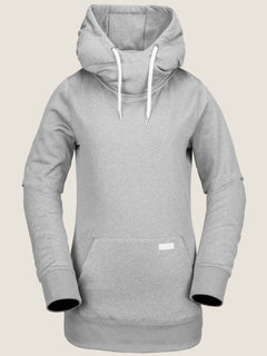 Yerba Pullover Fleece In Heather Grey, Front View
