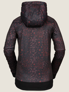 Cascara Fleece In Black Floral Print, Back View