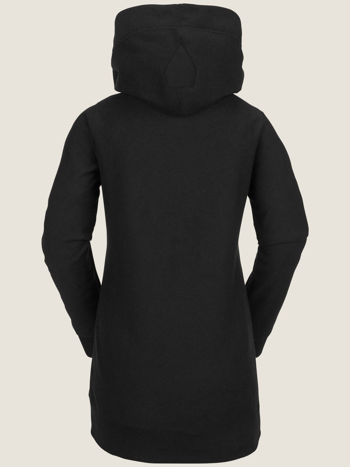 Riding Hoodie In Black, Back View