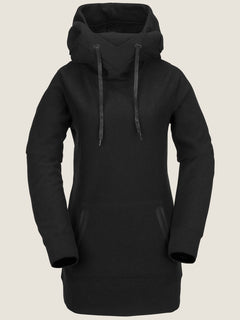 Riding Hoodie In Black, Front View
