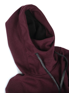Riding Hoodie In Merlot, Alternate View