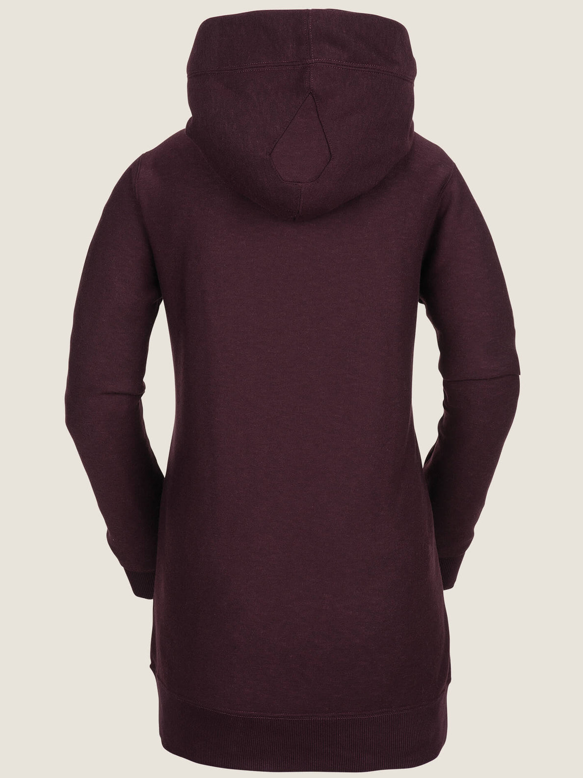 Riding Hoodie In Merlot, Back View