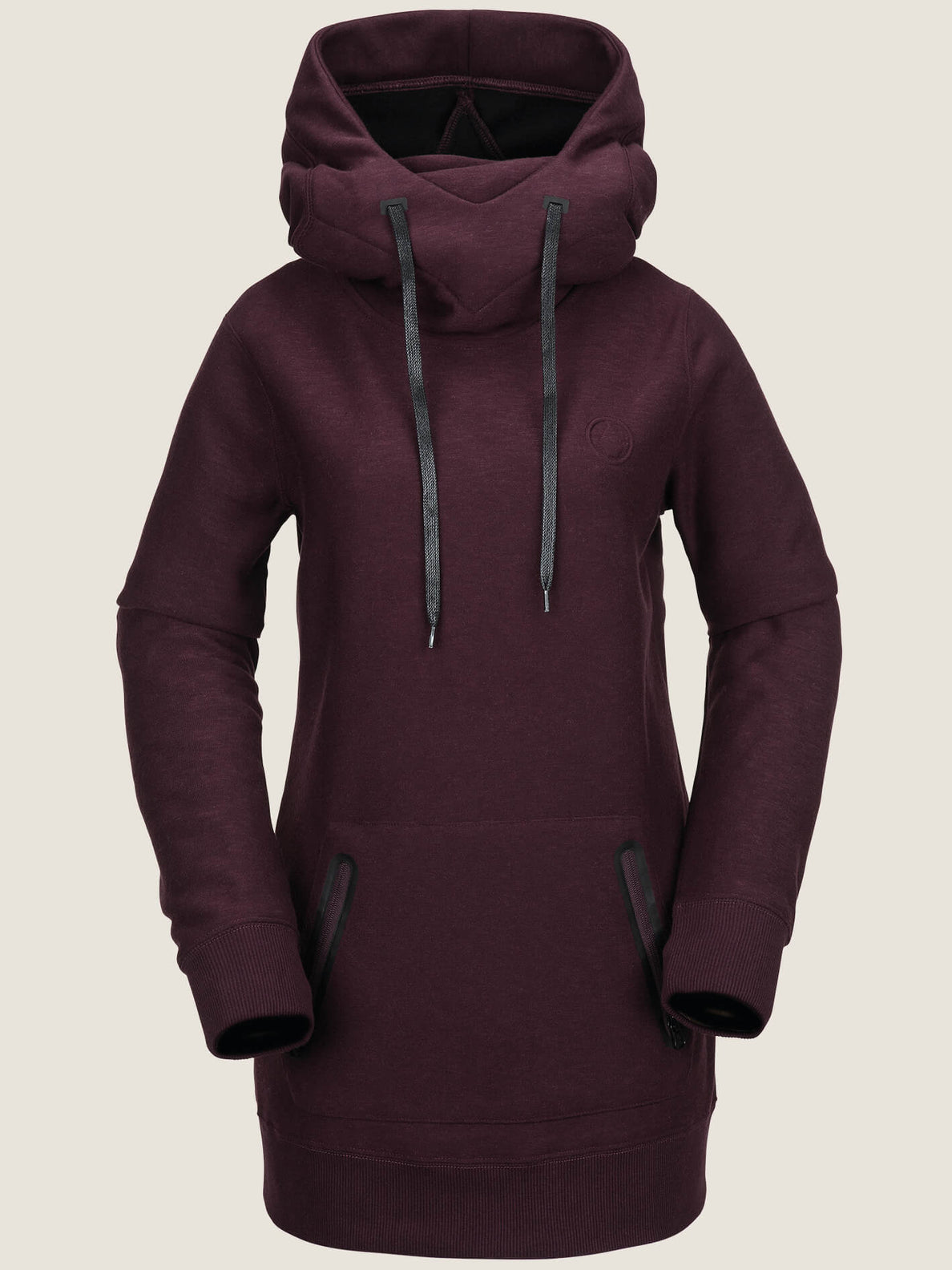 Riding Hoodie In Merlot, Front View