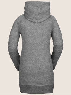 Tower Pullover Fleece In Heather Grey, Back View