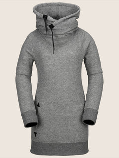 Tower Pullover Fleece In Heather Grey, Front View