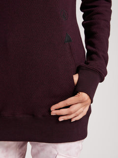 Tower Pullover Fleece In Merlot, Second Alternate View
