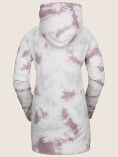 Costus Pullover Fleece In Pink, Back View