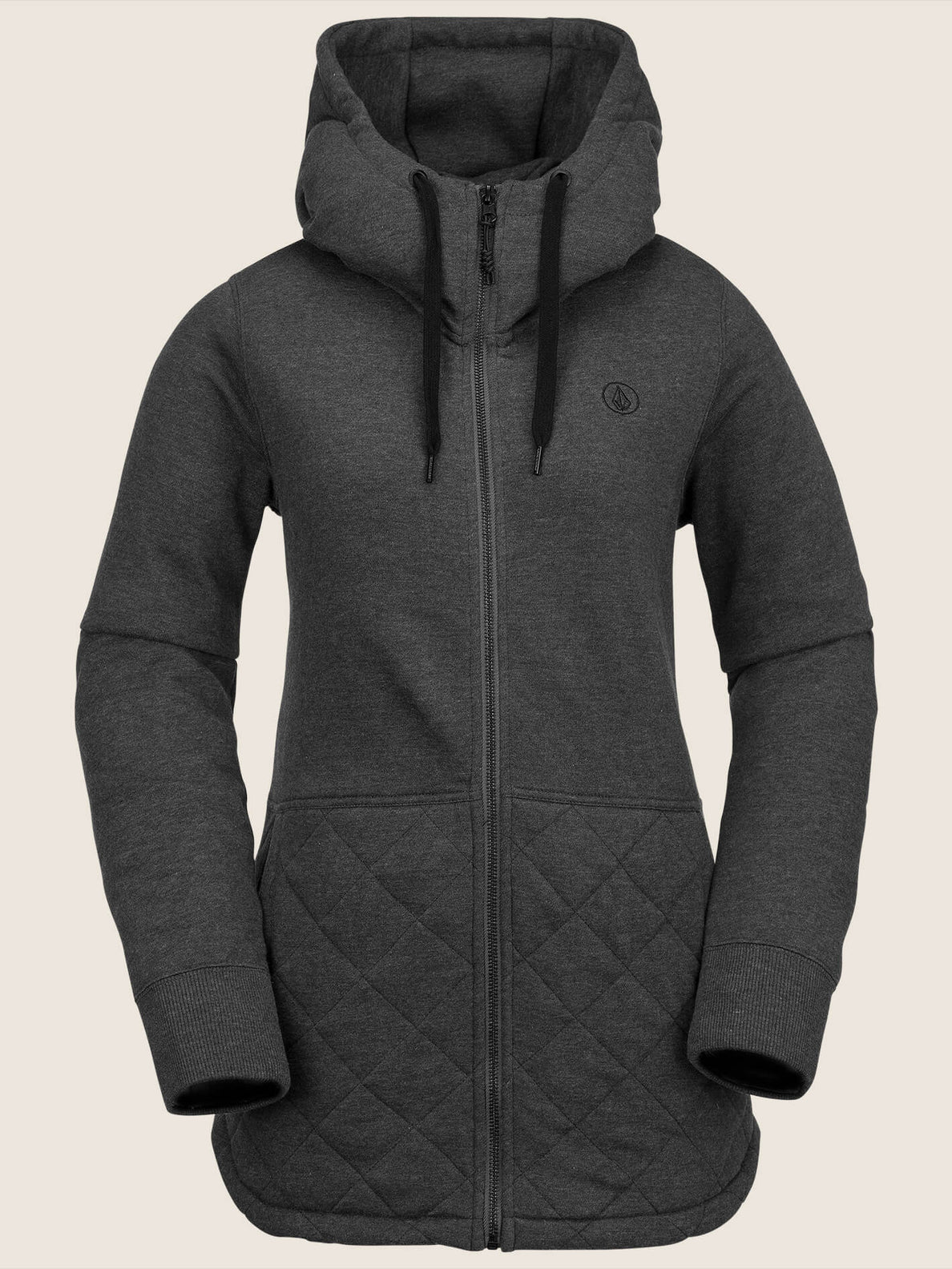 Winrose Fleece In Vintage Black, Front View