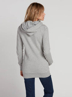 WOMENS TOWER PULLOVER FLEECE - HEATHER GREY