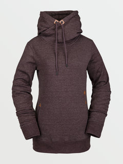 Womens Tower Pullover Fleece - Black Red (H4152105_BRD) [F]