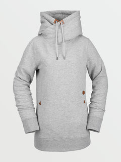 Womens Tower Pullover Fleece - Heather Grey (H4152105_HGR) [F]