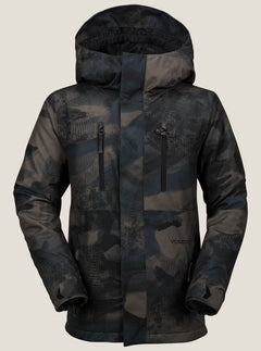 Garibaldi Insulated Jacket In Camouflage, Front View