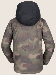 Neolithic Insulated Jacket In Camouflage, Back View