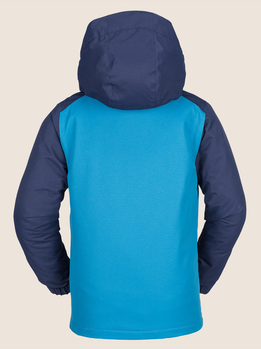 Vernon Insulated Jacket In Blue, Back View