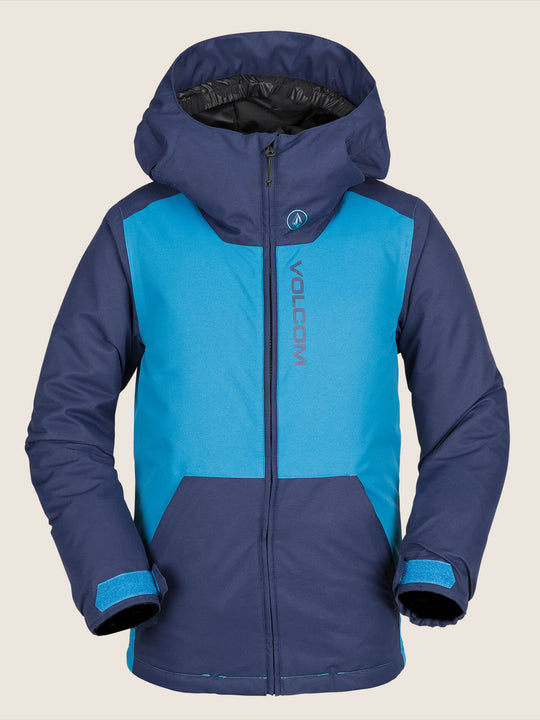 Vernon Insulated Jacket In Blue, Front View