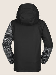 Vernon Insulated Jacket In Black White, Back View