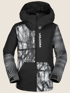 Vernon Insulated Jacket In Black White, Front View