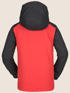 Vernon Insulated Jacket In Fire Red, Back View