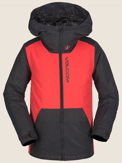 Vernon Insulated Jacket In Fire Red, Front View