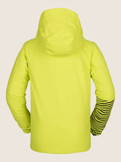 Vernon Insulated Jacket In Lime, Back View