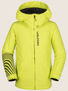 Vernon Insulated Jacket In Lime, Front View