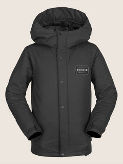 Ripley Insulated Jacket In Black, Front View