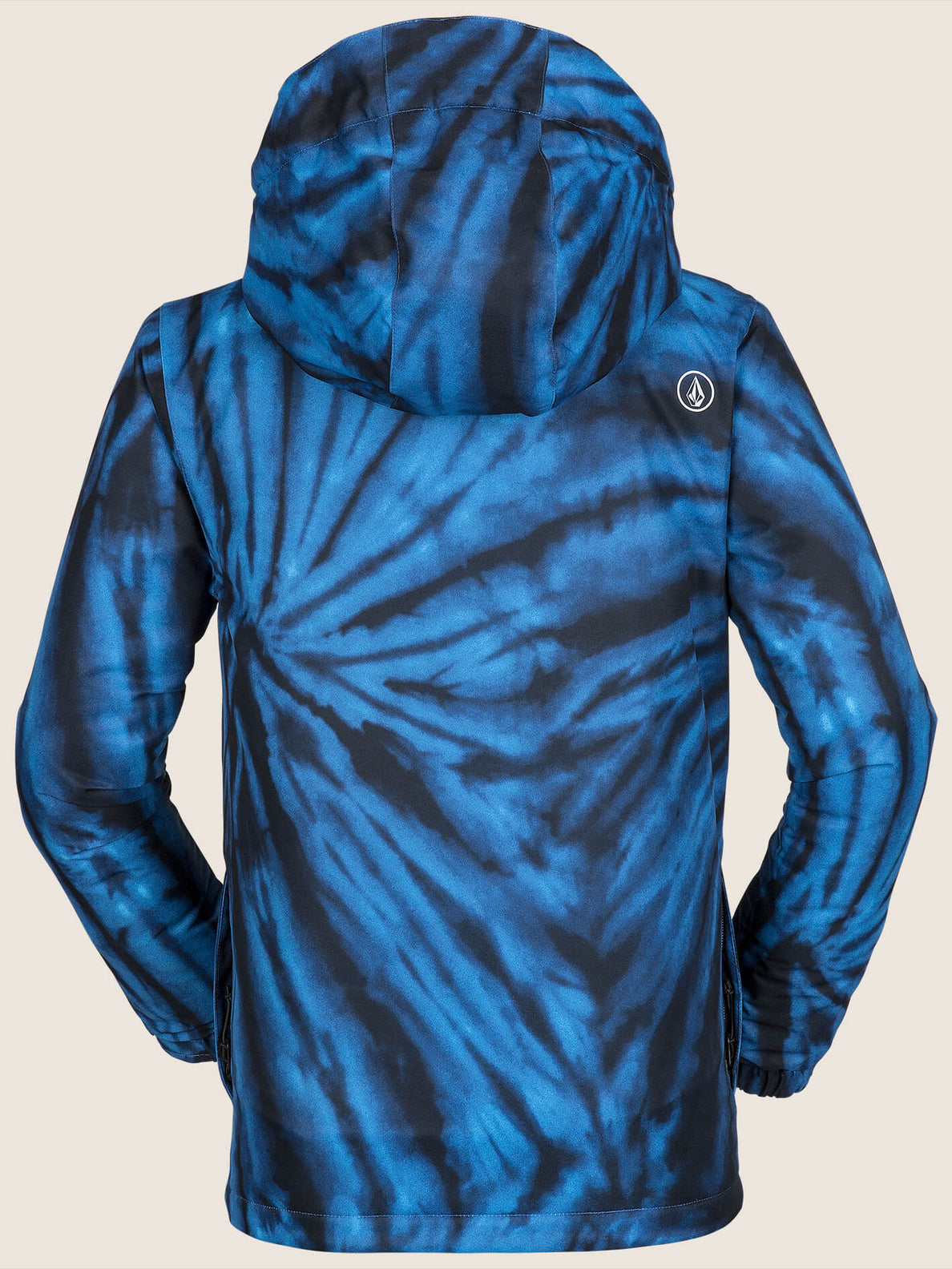 Ripley Insulated Jacket In Blue Tie-dye, Back View
