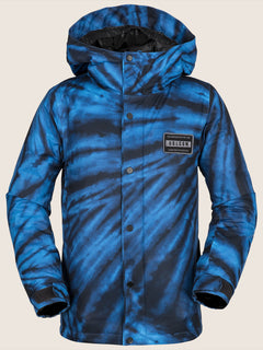 Ripley Insulated Jacket In Blue Tie-dye, Front View