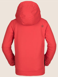 Ripley Insulated Jacket In Fire Red, Back View
