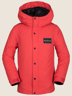 Ripley Insulated Jacket In Fire Red, Front View