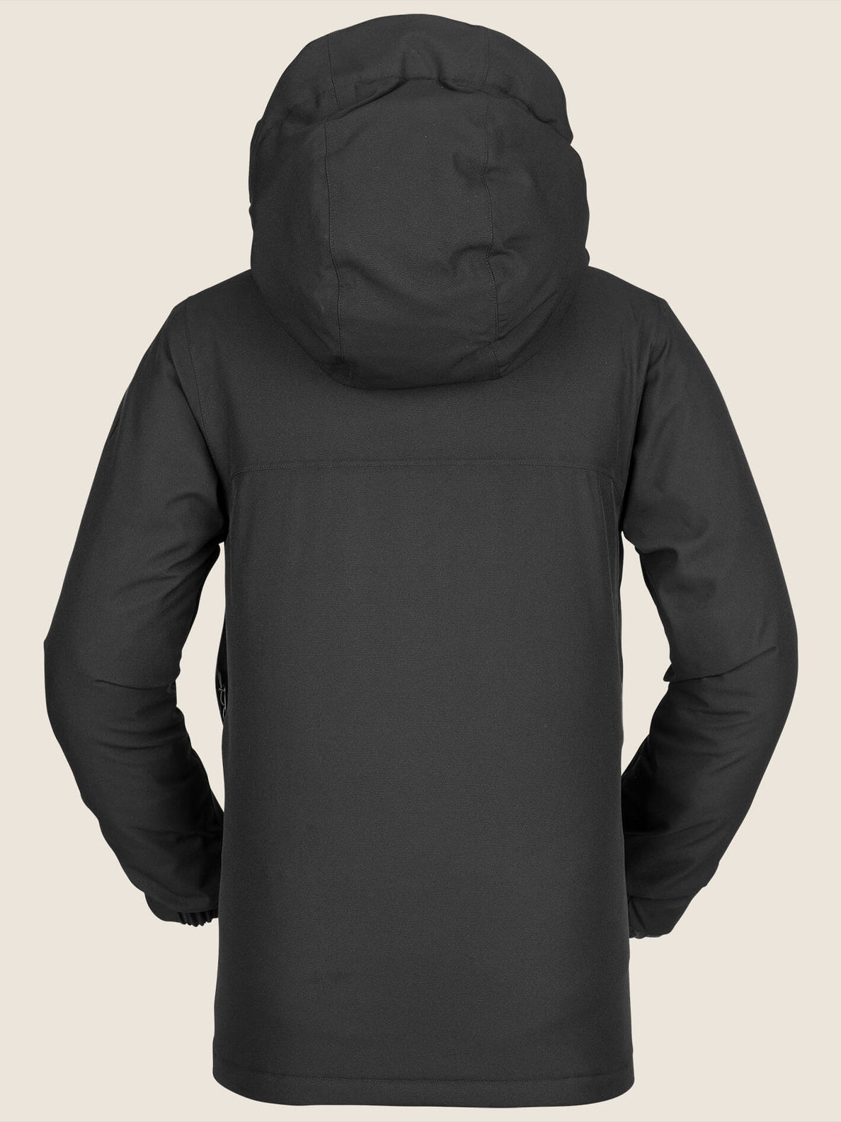 Holbeck Insulated Jacket In Black, Back View