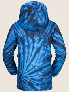 Holbeck Insulated Jacket In Blue Tie-dye, Back View