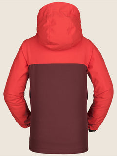 Holbeck Insulated Jacket In Fire Red, Back View