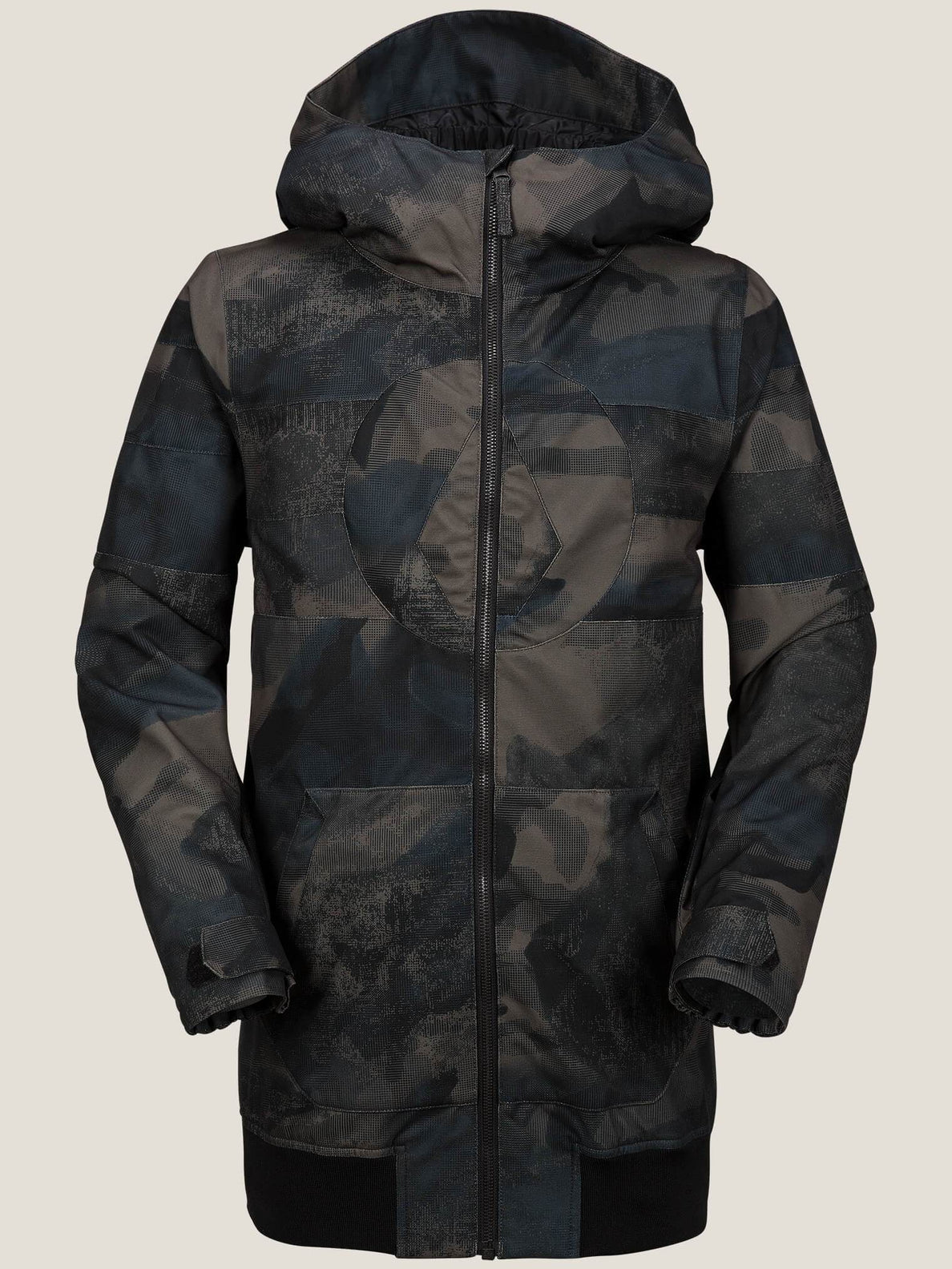 West Jacket In Camouflage, Front View