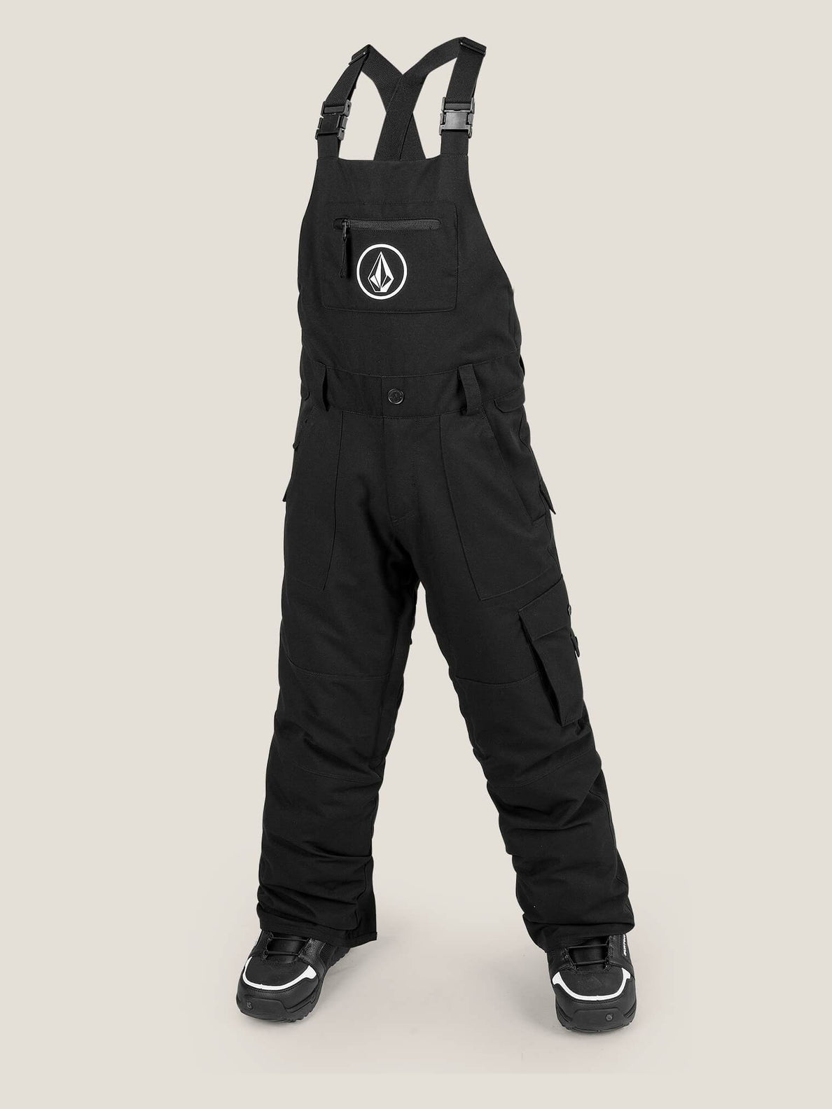 Sutton Insulated Overall In Black, Front View