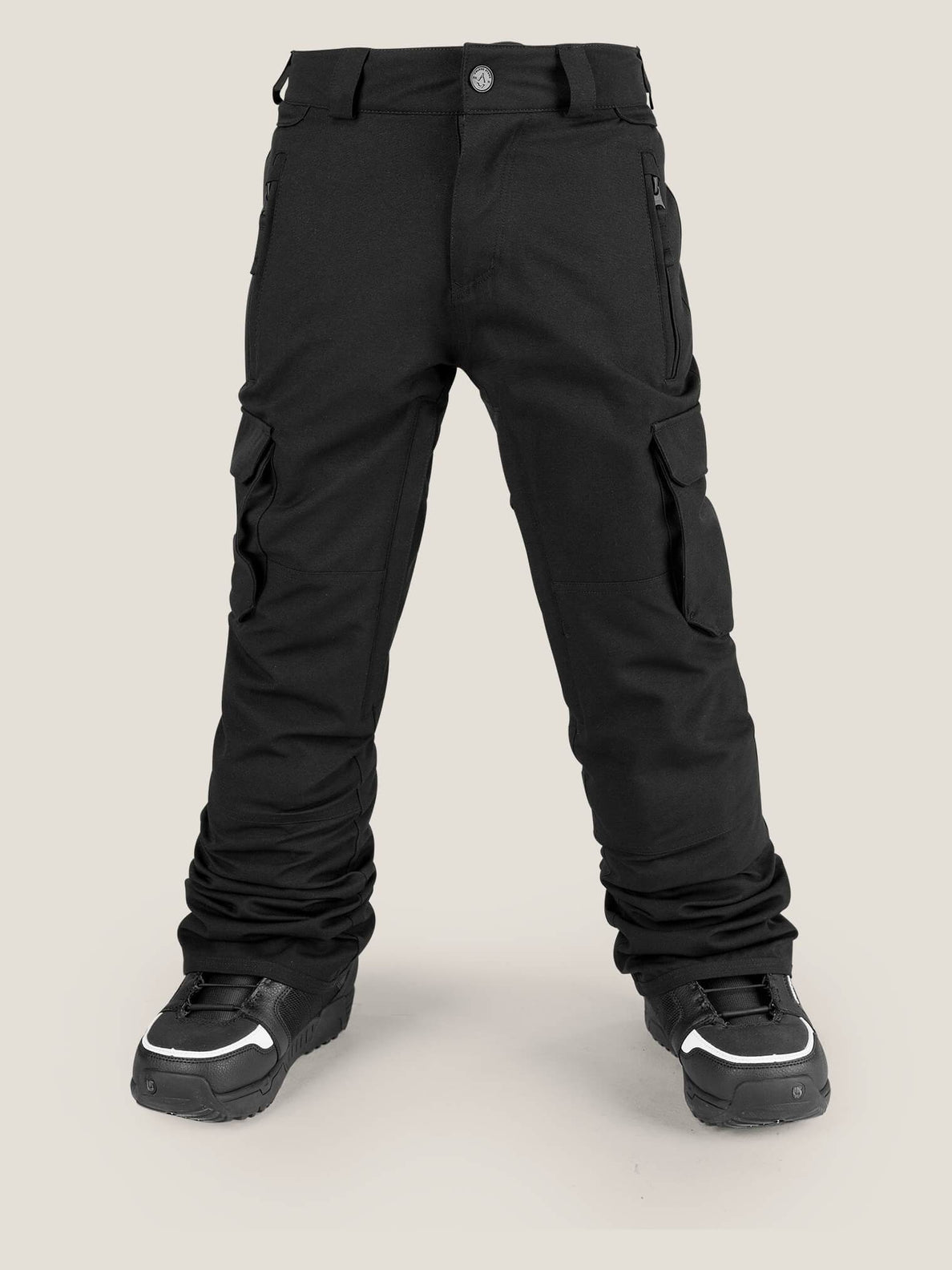 Cargo Insulated Pant In Black, Front View