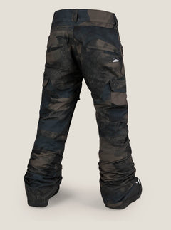 Cargo Insulated Pant In Camouflage, Back View