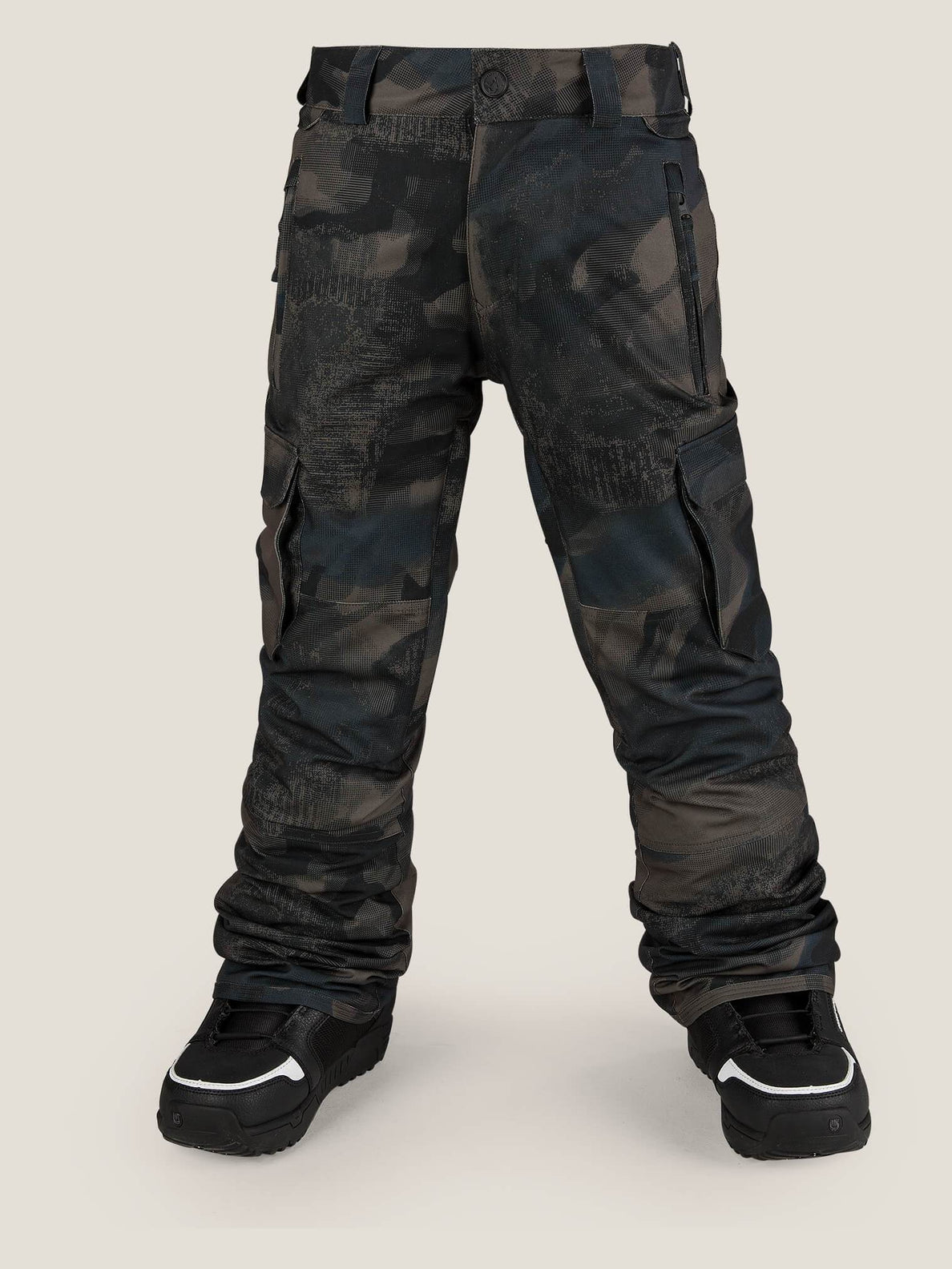 Cargo Insulated Pant In Camouflage, Front View