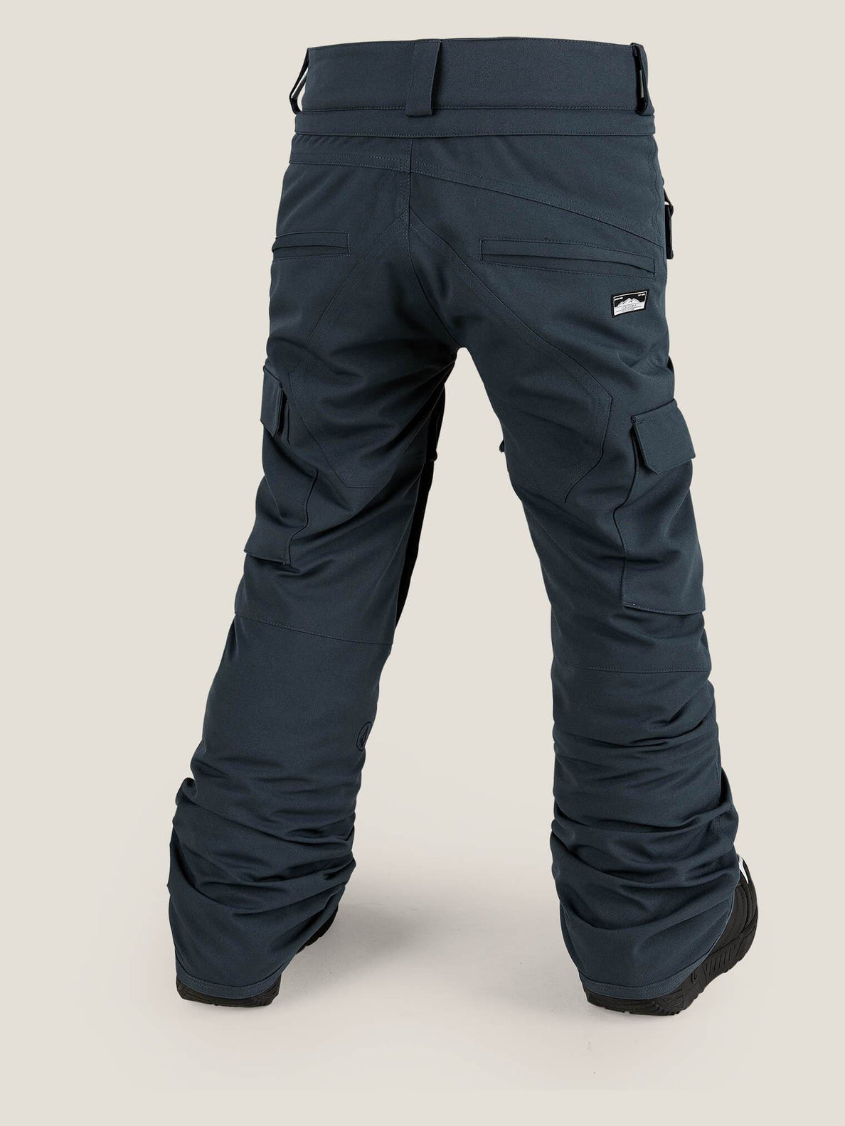 Cargo Insulated Pant In Vintage Navy, Back View