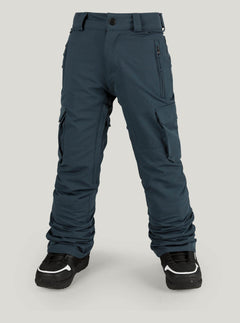 Cargo Insulated Pant In Vintage Navy, Front View