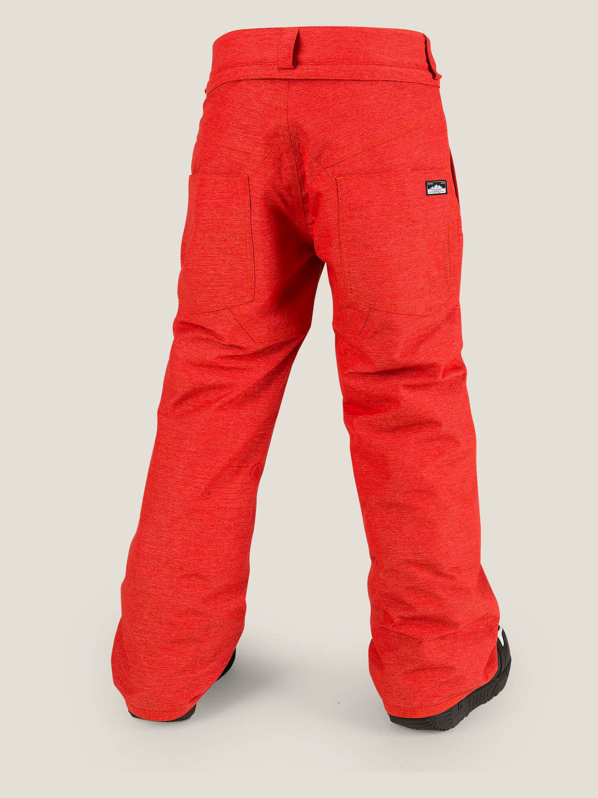 Explorer Insulated Pant In Fire Red, Back View