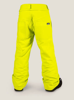 Explorer Insulated Pant In Lime, Back View